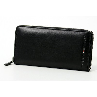 TOMMY HILFIGER/トミーヒルフィガーラウンドファスナー長財布/サイフ 91 4909 BLACK プレゼント/ギフト/通勤/通学 送料無料