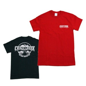 【CRAZY CREEK/クレイジークリーク】LOGO T-SHIRTS 発砲プリント 2color