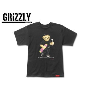 ☆Grizzly Griptape【グリズリーグリップテープ】PLAN B ByGRIZZLY COBRA COLE BEAR TEE BLACK ベアー Tシャツ ブラック 15479 [メンズ...