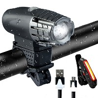 moiitee LED バイクライトセット 自転車ライト 一年間保証