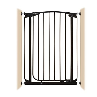 Bindaboo Hallway Pet Gate, Swing Closed, Black, Extra-Tall by Bindaboo Pet Gates -