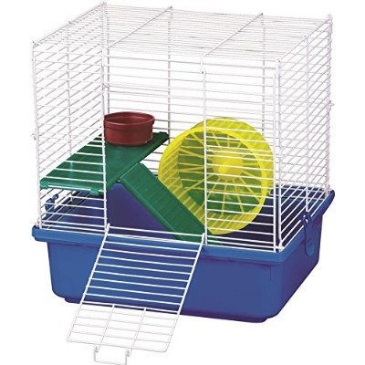 Kaytee My First Home & Fiesta Hamster Complete Kit Bedding Food Dish Cozy Cage