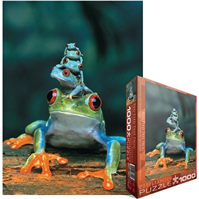 "Jigsaw Puzzle 1000 Pieces 19.25""X26.5""-Red-Eyed Tree Frog (並行輸入品)"