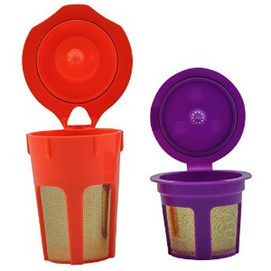 FANOR 24K Gold Reusable K Cup and K Carafe Coffee Filter Pod Combo- Accessories for Keurig 2.0 K200...