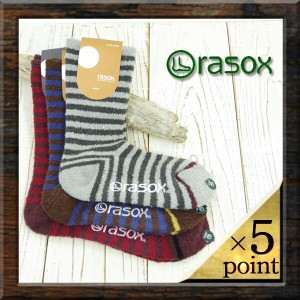 【rasox】 SOFT TOUCH BORDER (ca132cr01) Men's & Lady's 3color □