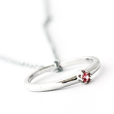 One&Only Jewellery 【鑑別書付】 天然 トルマリン ベビーリング 指輪 ネックレス ペンダント K18GP 10月誕生石