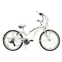 ★SALE★グリーンライン ビーチクルーザー 26インチ パールホワイト/ピンクGreenline(USA)706PL 7Speed Pearl white/Pink 自転車