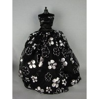 バービー 着せ替え用ドレス/服 B3 (Silver and Black strapless Ball Gown Made for the Barbie Doll)