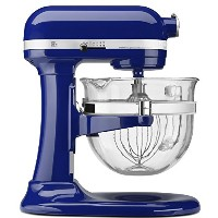 KitchenAid Professional 600 Design Series 6 Qt Glass Bowl Lift Stand Mixer 並行輸入 (Cobalt Blue)