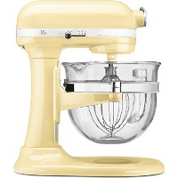 KitchenAid Professional 600 Design Series 6 Qt Glass Bowl Lift Stand Mixer 並行輸入 (Almond Cream)