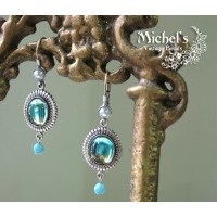 Michel's Vintage Beads Pierced Earringヴィンテージビーズピアス・スムースロック