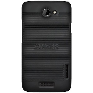 Amzer AMZ93883 Snap-On Hard Shell Case Cover for HTC One X/ATT HTC One X - Retail Packaging - Black...