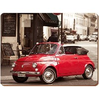 Everyday Home - Retro Fiat Cork-Backed Placemats - Multi-coloured - 4 Pieces