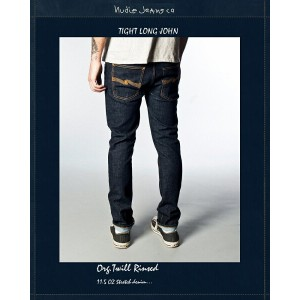 """【NudieJeans""""TightLongJohn/Org.Twill-Rinsed""""L32】【ヌーディージーンズ""""タイトロングジョン】"""