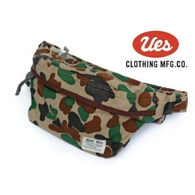 UES(ウエス) CAMOUFAGE WAIST BAG / 迷彩柄ウエストバッグ WB-1 (CAMO) Made in JAPAN_fs04gm