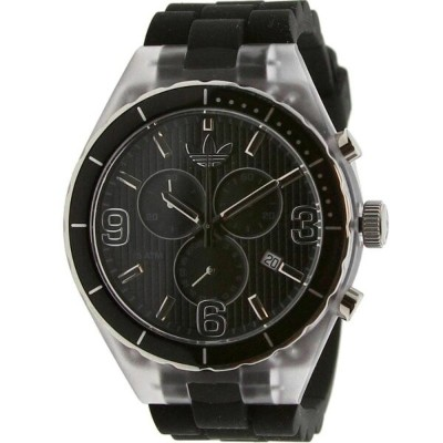 アディダス メンズ 腕時計【Adidas Cambridge Silicon Watch】black / clear