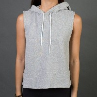 アディダス レディース トップス パーカー【Adidas Sleeveless Pullover Hoodie】gray / medium grey heather