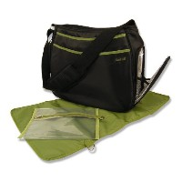 Trend Lab Ultimate Diaper Bag, Black/Avocado by Trend Lab