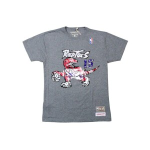 MITCHELL&NESS T-SHIRTS (VINCE CARTER NAME&NUMBER/TORONTO RAPTORS: GREY)ミッチェル&ネス/Tシャツ/グレー
