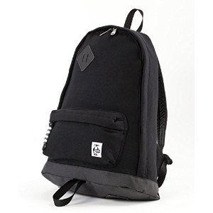 CHUMS チャムス バックパック リュック Classic Day Pack Swaat Nylon リュックサック (ワンサイズ, Black/Charcoal)