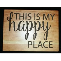 This is my happy place Personalizedカッティングボード–ホームデコレーションHappy Place Sign、新築祝いギフト、木製サイン、壁アート...