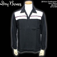 DRY BONESドライボーンズ◆DB Knit Combinaition Open Shirts◆◆BLACK◆DS-2198