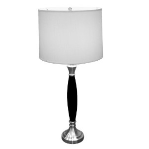 ORE International 31117 Wooden Table Lamp, Chrome by ORE