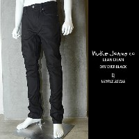 nudie jeans (ヌーディージーンズ)LEAN DEAN(リーンディーン)DRY EVER BLACK【送料無料】