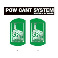 『POW CANT SYSTEM/パウカント システム』【CANT PLATE/カントプレート】カラー:GREEN/SILVER★メール便配送致します