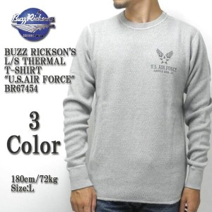 "BUZZ RICKSON'S バズリクソンズ L/S THERMAL T-SHIRT ""U.S.AIR FORCE"" BR67454"