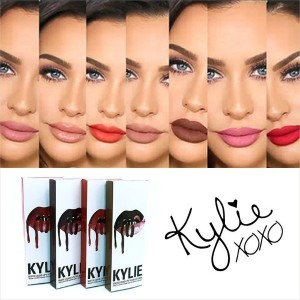 8pcs/lot Kylie Lip Gloss Lipstick Kylie Jenner Lip Kit Lipstick Matte Liquid Lip Gloss cosmetics