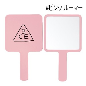 [3CE/3CONCEPT EYES] 3CE MINI HAND MIRROR 手鏡 ハンドミラー #PINK RUMOUR