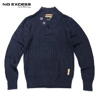 【25%OFFセール 6/26 20:00~6/30 23:59】 ノーエクセス NO EXCESS 正規販売店 メンズ ヘンリーセーター HENRY NECK CABLE KNIT 230801...