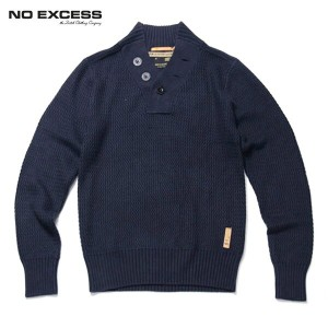 【25%OFFセール 1/19 10:00~1/22 9:59】 ノーエクセス NO EXCESS 正規販売店 メンズ ヘンリーセーター HENRY NECK CABLE KNIT 230801...