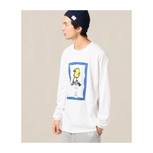DISKAH / Have a Bad Time? L/S【ジャーナルスタンダード/JOURNAL STANDARD メンズ Tシャツ・カットソー ホワイト ルミネ LUMINE】