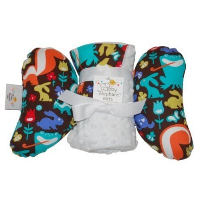 Baby Elephant Ears Head Support Pillow & Matching Blanket Gift Set (Grass Menagerie) by Baby...