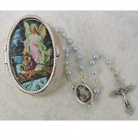 Guardian Angel Baby Rosary with Guardian Angel Keepsake Box great for baptism, baby shower or...