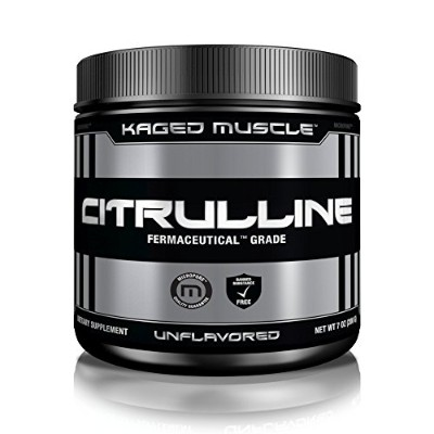 Kaged Muscle Pure L-Citrulline, 200 g, Unflavored Powder, Increases Blood Flow, Intense Pump by...