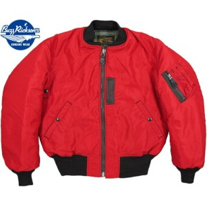"BUZZ RICKSON'S/バズリクソンズ Jacket, Flying, Intermediate Type RED MA-1""BUZZ RICKSON MFG.CORP."" タイプ レッドMA..."