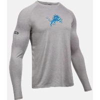 Under Armour NFL Combine Authentic UA Detriot Lions Logo Long Sleeve Shirt メンズ ロンT Tシャツ アンダーアーマー...