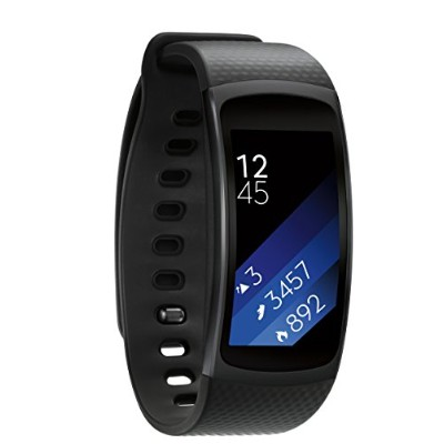 Roll over image to zoom in Samsung Gear Fit2 Smartwatch ギャラクシースマートウォッチ ブラック【平行輸入品】 (Small)