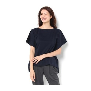 SQUARE CLOTHES TOPS【リムアーク/RIM.ARK レディス Tシャツ・カットソー NVY ルミネ LUMINE】