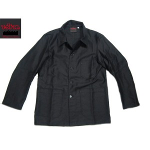 【期間限定30%OFF!】VETRA(ベトラ)/#4 MEN'S HEAVY MOLESKIN COVERALL MADE IN FRANCE/black