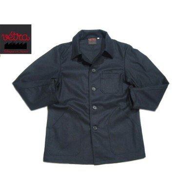 【期間限定30%OFF!】VETRA(ベトラ)/#2067 MEN'S MELTON COVERALL MADE IN FRANCE/marine【アウトレット】