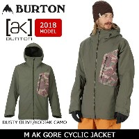 2018 BURTON バートン スノーボードウェア ジャケット M AK GORE CYCLIC JACKET DUSTY OLIVE/KODIAK CAMO 10002104300GORE...