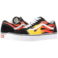 (バンズ) VANS メンズスニーカー・靴 Old Skool (Flame) Black/Black/True White Men's 7, Women's 8.5 25cm(レディース25...