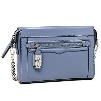(レベッカミンコフ) バッグHF35EFCX11 418 FASHION CLASSICS MINI CROSBY CROSSBODY ショルダーバッグ DEEP DENIM/SILVER ...
