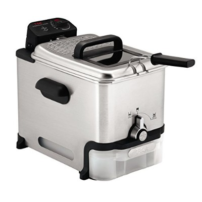 T-fal FR8000 Oil Filtration Ultimate EZ Clean Easy to clean 3.5-Liter Fry Basket Stainless Steel...