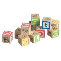 Super Bird Creations 1-1/4-Inch Alphabet Blocks, by Super Bird Creations
