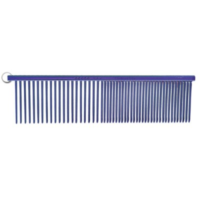 Resco Professional Anti-Static Best Dog, Cat, Pet Grooming Comb, Medium / Coarse Tooth Spacing, 1.5-Inch Pins, Candy Blue by Resco